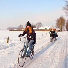 Goed gemutst op weg naar huis (andzwe) Tags: trees winter girls red snow holland netherlands smile dutch bike bicycle hair bag landscape bomen meiden boots farm sneeuw perspective nederland bluesky biking lantern bags rood paysbas prikkeldraad winters fietsen meisjes lach drente roodharig drenthe fiets landschap muts snowboots dutchlandscape beanies boerderij schoolbag haar wintry lantaarn redhaired laarzen pittoresque perspectief mutsen blauwelucht schooltassen schooltas panasoniclumixdmcfz50 goedgemutst voorpaginanederlandbelicht laphotodujour driemeidenopfietsdoorsneeuwopwegnaarhuis threegirlsontheirwayhomethroughsnow bremenbergweg