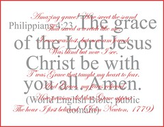 "Philippians 4:23 and ""Amazing Grace"" poster"
