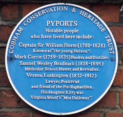 Photo of William Hoste, Mark Currie, Samuel Wesley Bradnack, and Vernon Lushington blue plaque