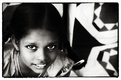 Beauty lies in the eyes of the subject :) | Explored (VinothChandar) Tags: portrait india cute girl monochrome beautiful beauty canon photography photo kid eyes child photos pics pov picture pic orphan portraiture attractive 5d february monday chennai tamilnadu kanchipuram