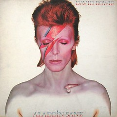 David Bowie Aladdin Sane album 1973 (PaulWrightUK) Tags: music rock bowie album vinyl pop cover lp record 70s glam 1970s seventies 1973 glamrock davidbowie recordcover aladdinsane jeangenie driveinsaturday