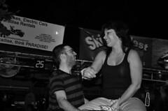 Karen vs. Mechanical Bull (tacosnachosburritos) Tags: street food woman guy beer girl bar drunk keys island bathroom photography mechanical florida toilet bull tavern pedestrians booze conference fl keywest walkers speakers