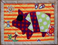 polka dot piggie (simple girl, simple life) Tags: pig mini polka dot swap piggies dqs mugrug dqs12