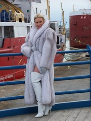 Set-Up Shot - Port Colborne, Canada (Christina Saint Marche) Tags: canada gloves portcolborne cfmboots pirateboots silvergloves stilettohighheelboots bluefoxcoat christinasaintmarche christinastmarche