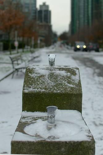 Fontaine de neige