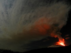 Out of Etna came a huge, eerie cloud (etnaboris) Tags: italy mountain snow night volcano lava sicily etna 2012 volcanicash newsoutheastcrater paroxysmaleruptiveepisode eruptioncloud