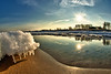 Eisgang (dubdream) Tags: ocean sky sun seascape colour ice beach water clouds reflections germany landscape nikon balticsea fisheye d200 ostsee hdr heiligenhafen sigma10mm dubdream