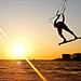 sunset kiteboarding Neretva