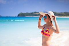 Beach babe (Vera Venus) Tags: friends beach fun paradise outdoor babe blueskies beachbabe traveler camarinesnorte calaguas calaguasisland itsmorefuninthephilippines torqouisewater
