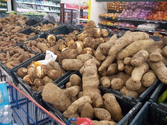 many kinds of roots in the supermarket