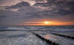 Westkapelle sunset (GKooijman70) Tags: longexposure sunset sea landscape coast zonsondergang nederland zeeland zee landschap kust langesluitertijd