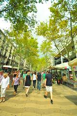 La Rambla (Vitor Nisida) Tags: barcelona cidade espanha ciudad larambla urbana catalunya ciutat rambla catalunha