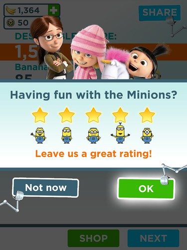 Despicable Me: Minion Rush Rate Us: screenshots, UI