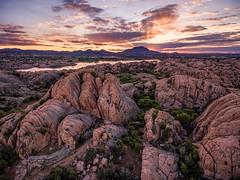 Granite-Dells-0066-HDR (Michael-Wilson) Tags: sunset arizona lake az aerial granite prescott drone willowlake michaelwilson phantom4 granitedells djiphantom