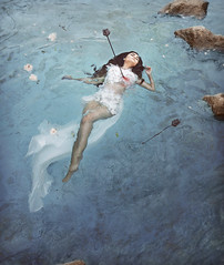 Loving You is Drinking Poison (Michelle.A.M.) Tags: original painterly art fairytale river dark death peace fine gone wrong story short mysterious writer conceptual float graceful whimsical prose