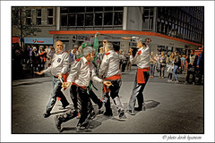MORRIS DANCERS 6 (Derek Hyamson) Tags: liverpool churchstreet candids hdr morrisdancers