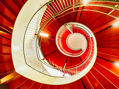 Red Spiral Flower (marco ferrarin) Tags: red japan stairs hamamatsu spiralstaircase acttower