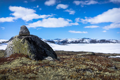 Summer in Norway (siimteppand) Tags: summer snow mountains colours dof stones mountainlake