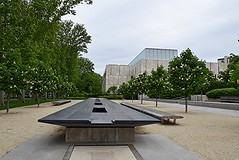 long table (hansntareen) Tags: art philadelphia metal architecture table long outdoor infinite