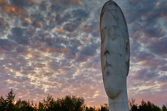 Dream sunset 2 (another_scotsman) Tags: sunset sculpture statue landscape dream sthelens merseyside suttonmanor