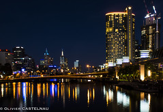 Melbourne by night (Oliflyer) Tags: bridge night australia melbourne pont australie