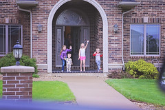 365 Project - April 30 (lupe1515) Tags: kids project aj olivia hannah wave henry porch 365 goodbye