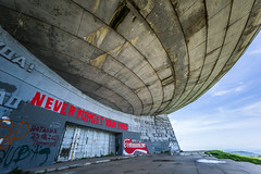 NEVER FORGET YOUR PAST (DeSjnIs) Tags: leica travel building architecture europe voigtlander ufo bulgaria 12mm flyingsaucer f56 voigtlnder balkan superwideangle ultrawideangle m240 leicam ufobuilding buzludzha  buzlua thebuzludzhamonument