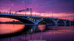 Pont Viau, Montral (Yves Kroack) Tags: longexposure bridge sunrise colorful montral pont color vitesselente archbridge leverdusoleil pontviau yveskroack riviredespriries pontarches