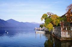 Orta San Giulio (torriman) Tags: trees italy lake mountains boats photography sony ortasangiulio sonynex3