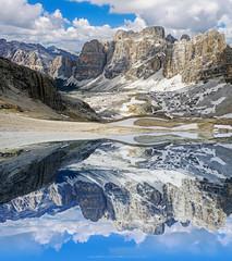 Il lago effimero - The  ephemeral lake (gio_running_away) Tags: sky mountain lake clouds sofia legacy dolomiti mountainscape dolomiten tofane ephemerallake