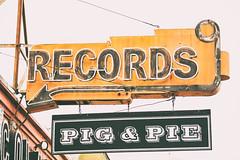Pig and Pie (Thomas Hawk) Tags: sf sanfrancisco california usa records america neon unitedstates fav50 unitedstatesofamerica mission missiondistrict fav10 discolandia fav25 pigpie