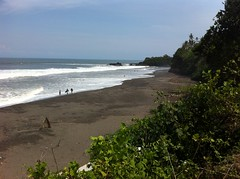 Balian Beach. Black sand with sea too strong to swim. Brilliant. (AJoStone) Tags: bali beach indonesia balian