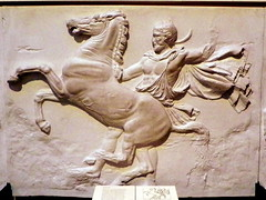 The Parthenon Frieze, British Museum (Peter O'Connor aka anemoneprojectors) Tags: england sculpture horse man male london art museum youth greek ancient kodak camden parthenon relief bloomsbury marble britishmuseum artefact elginmarbles antiquity 2016 londonboroughofcamden parthenonfrieze z981 kodakeasysharez981