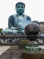 Daibutsu I (Douguerreotype) Tags: statue japan temple shrine buddhist incense