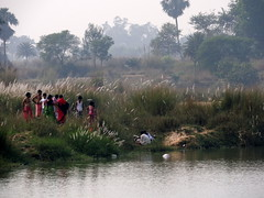 Funeral by the River Kopai (kaushb) Tags: santiniketan kopai