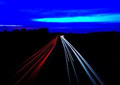 Light trails (Malamute01) Tags: uk light sussex motorway trails a23