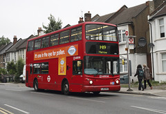 VLA166 LJ55BVU (Arriva) Harrow 1.6.16 (Rays Bus Photographs) Tags: again arrivalondon lj55bvu vla166