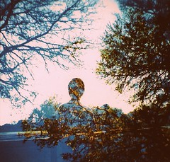 (layla blackshear) Tags: park trees film silhouette analog lomo xpro lomography crossprocessed woods doubleexposure mini multipleexposure diana chrome 100 analogue