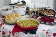 "Food Table • <a style=""font-size:0.8em;"" href=""https://www.flickr.com/photos/7515640@N06/6400189063/"" target=""_blank"">View on Flickr</a>"