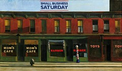Small Business Saturday, after Edward Hopper