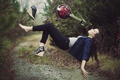 Divided We Fall (Shelby Robinson) Tags: road portrait girl canon rebel 50mm mandolin levitation f18 teenage t1i