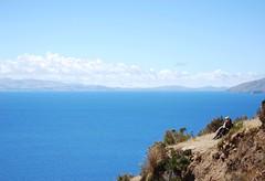 Resting (i_gallagher) Tags: cliff lake titicaca lago track path bolivia titikaka isladelsol idg