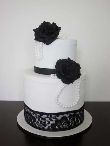 Black And White Vintage Wedding Cake A Photo On Flickriver