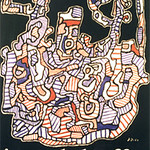 "<b>L'hourloupe</b><br/> Jean Dubuffet (1901-1985) ""l'hourloupe"" Lithographic Poster, 1964 LFAC #1994:04:04<a href=""http://farm8.static.flickr.com/7173/6438568005_1a878b9e78_o.jpg"" title=""High res"">∝</a>"