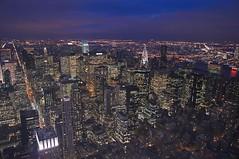 New York Skyline from Empire State (Dave Tomkin) Tags: nyc newyorkcity ny newyork skyline night nightshot manhattan newyorkskyline empirestate newyorknight sonyalpha