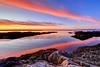 Open Eyes (Northern Straits Photo) Tags: morning red canada water sunrise coast rocks bc britishcolumbia victoria vancouverisland shore westcoast secretbeaches nikond700 northernstraitsphotography