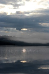 Loch Ness (Sari1979) Tags: greatbritain cloud reflection scotland unitedkingdom sunbeam lochness