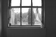 Melancholy (Eluna Side) Tags: old windows urban blackandwhite bw tree art abandoned home strange forest vintage hospital dark landscape sadness gris solitude mood loneliness sad view belgium belgique emotion noiretblanc decay interior sony curtain gray surreal atmosphere retro forbidden nostalgia triste forgotten urbanexploration depression melancholy paysage past desolate drapes hopital fentre oldage abandonment homesweethome decaying vieux tristesse nostalgie intrieur melancolia urbex rideaux oubli trange abandonn pass vieillesse mlancolie haikyo friche lostplace dprimant geriatrics dsolation urbanexplorer explorationurbaine nex5 explorateururbain elunaside