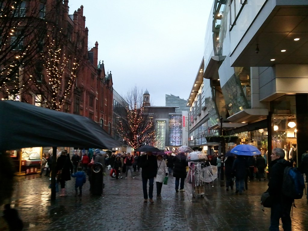 A cold and wet day in Manchester