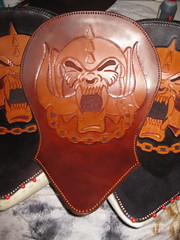 Leather - Motrhead / Victory Motorcycles (Marius Mellebye / 276ccm) Tags: leather skull carved motorcycles victory custom 8ball leatherwork lemmy motorhead kustom bobber mariusmellebye cbp tooled 276ccm